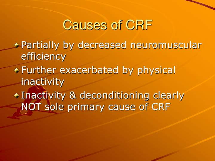 Causes of CRF