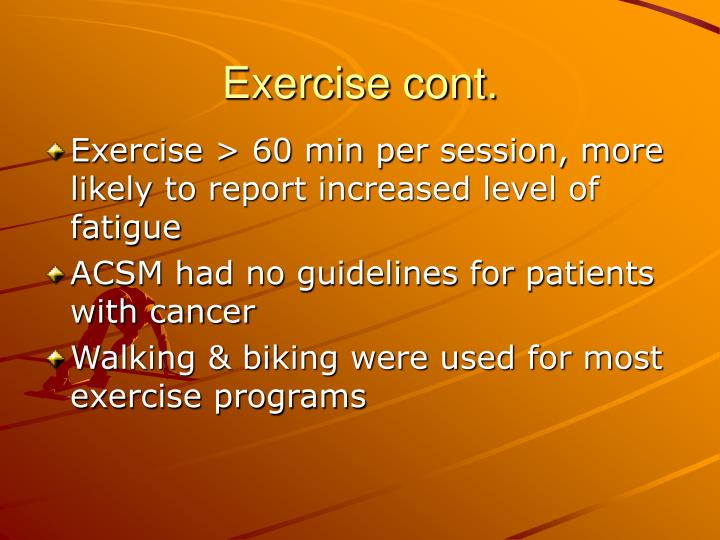 Exercise cont.