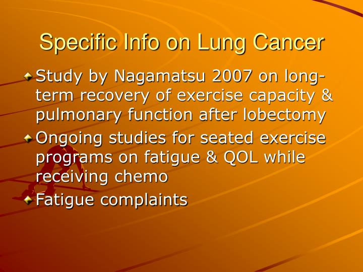 Specific Info on Lung Cancer