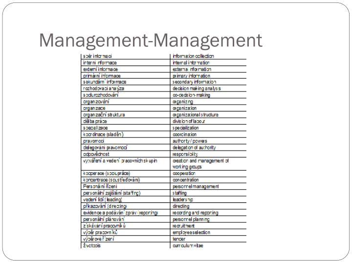 Management-Management