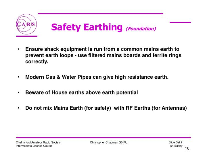 Safety Earthing