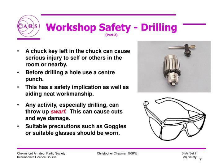 Workshop Safety - Drilling