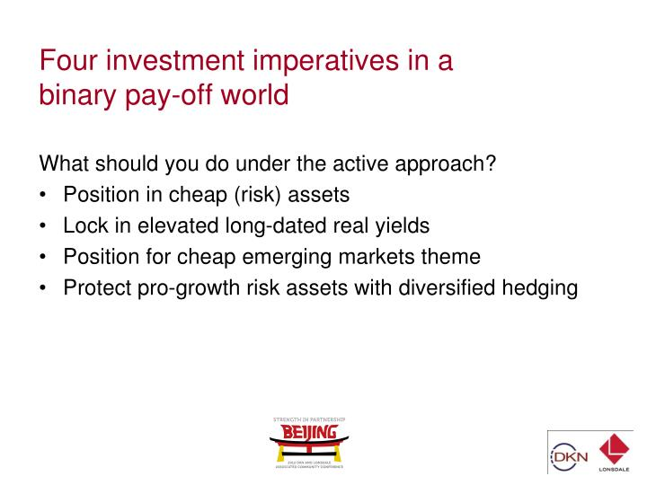 Four investment imperatives in a