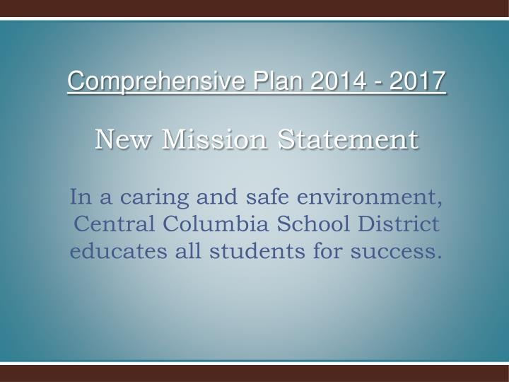Comprehensive Plan 2014 - 2017