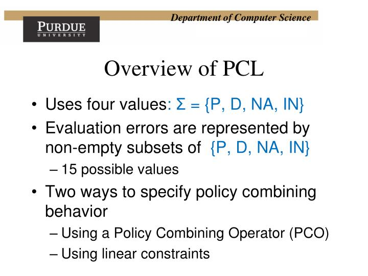 Overview of PCL