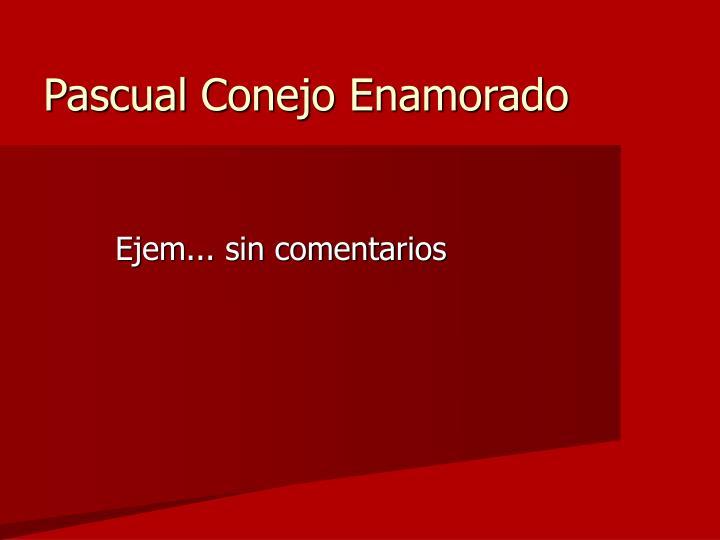 Pascual Conejo Enamorado