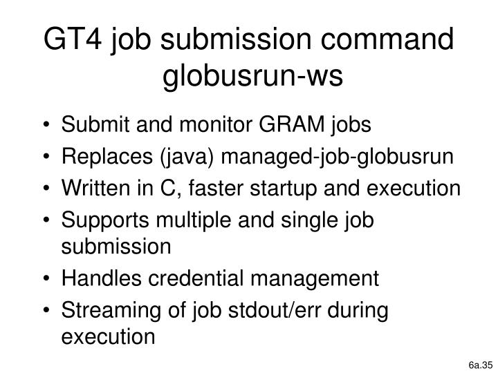 GT4 job submission command