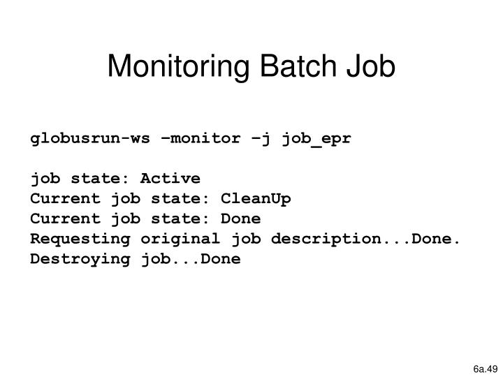 Monitoring Batch Job