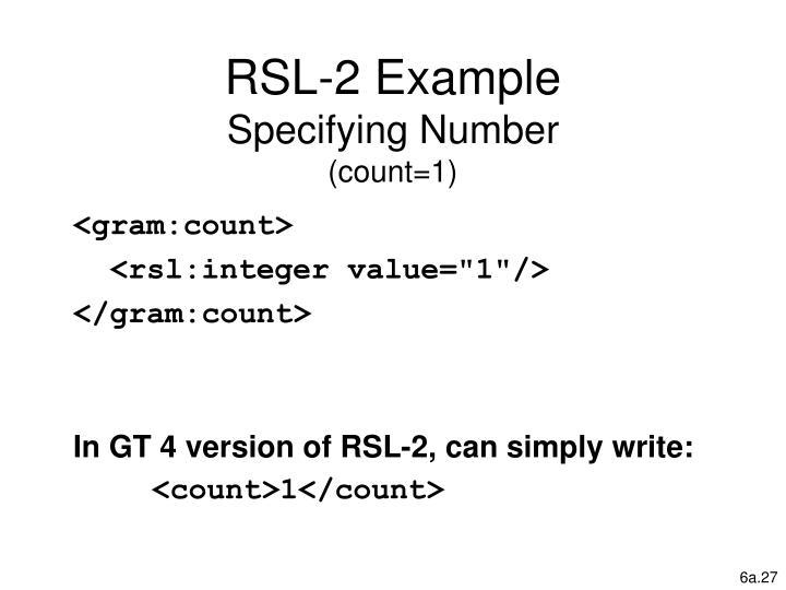 RSL-2 Example