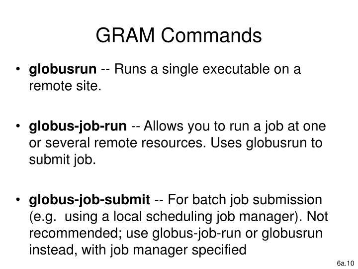 GRAM Commands