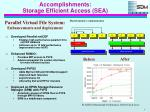 accomplishments storage efficient access sea