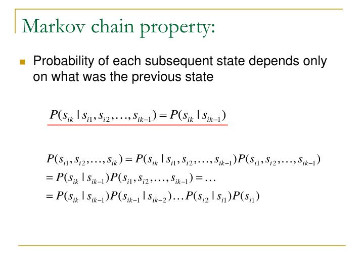 Markov chain property: