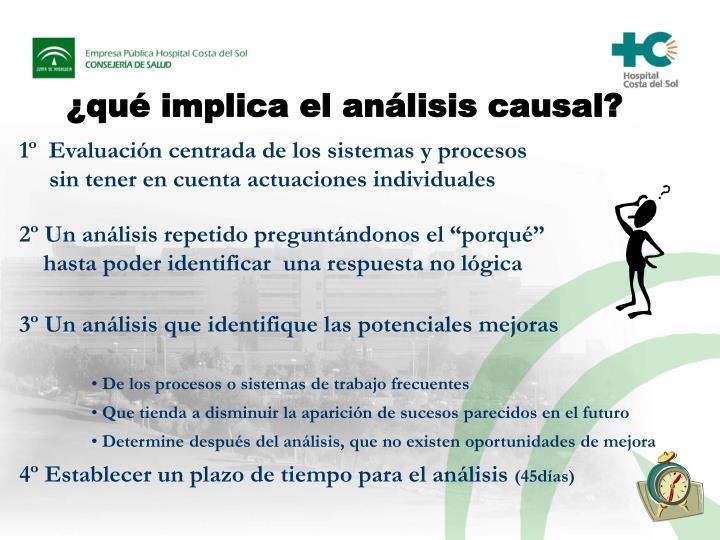 ¿qué implica el análisis causal?