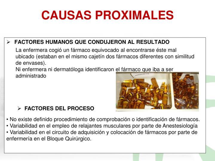 CAUSAS PROXIMALES