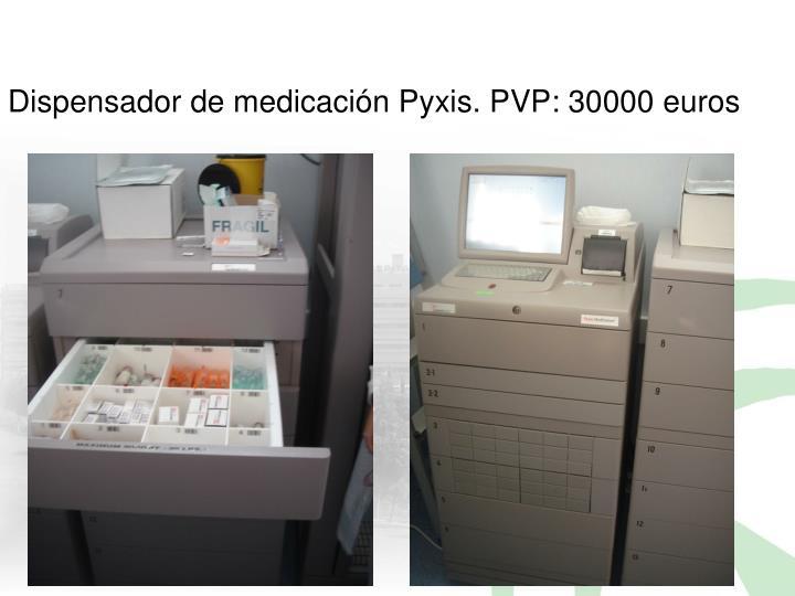 Dispensador de medicación Pyxis. PVP: 30000 euros