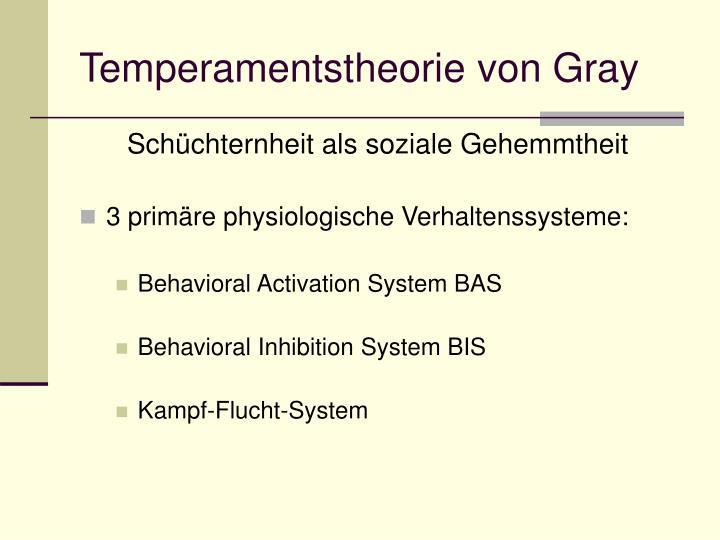 Temperamentstheorie von Gray