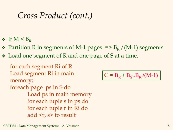 Cross Product (cont.)