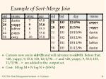 example of sort merge join