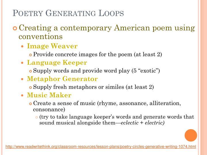 Poetry Generating Loops