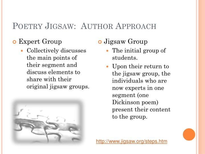 Poetry Jigsaw:  Author Approach