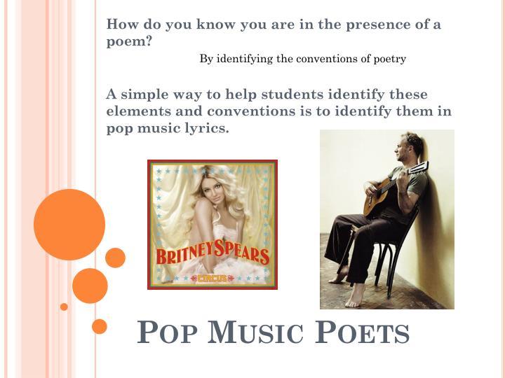 Pop Music Poets