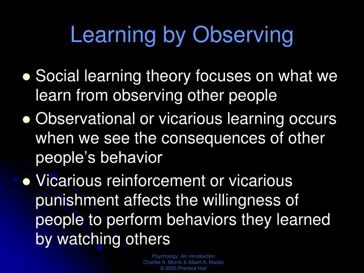 Learning by Observing