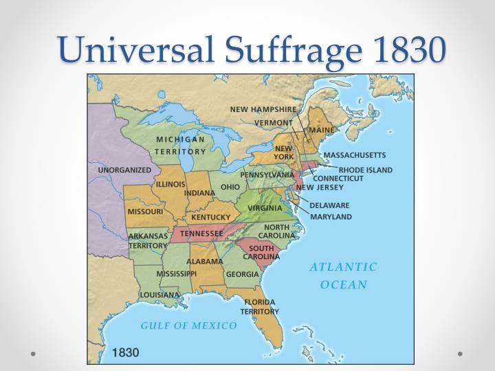 universal suffrage After the civil war, as congress prepared to extend voting rights to black men, suffragists susan b anthony and elizabeth cady stanton recognized the opportunity to include women in any constitutional changes this petition—signed by anthony, stanton and other notable suffragists—asked congress.