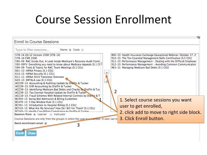 Course Session Enrollment