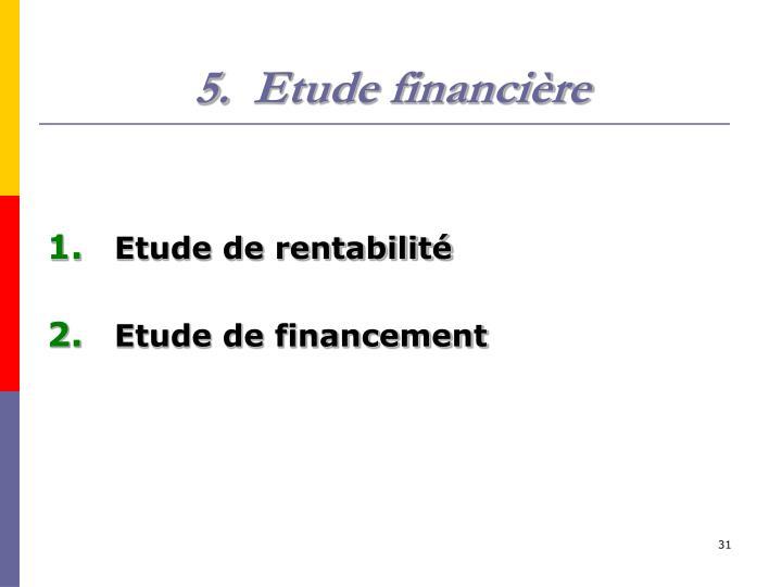 Etude financière