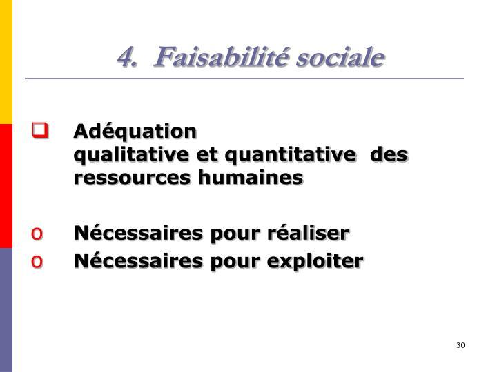 Faisabilité sociale