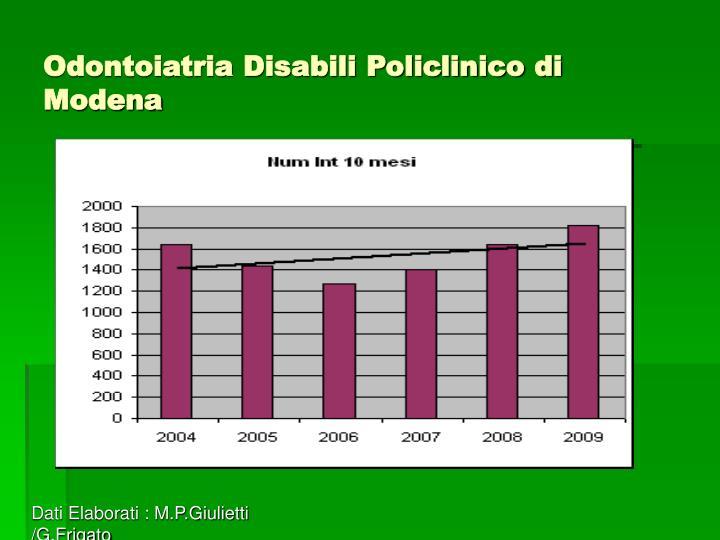 Odontoiatria Disabili Policlinico di Modena