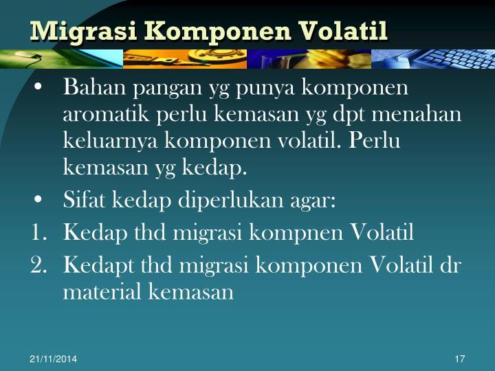 Migrasi Komponen Volatil