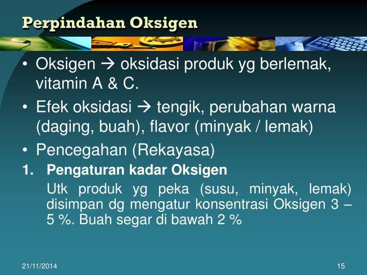 Perpindahan Oksigen