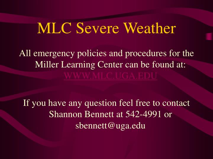 MLC Severe Weather