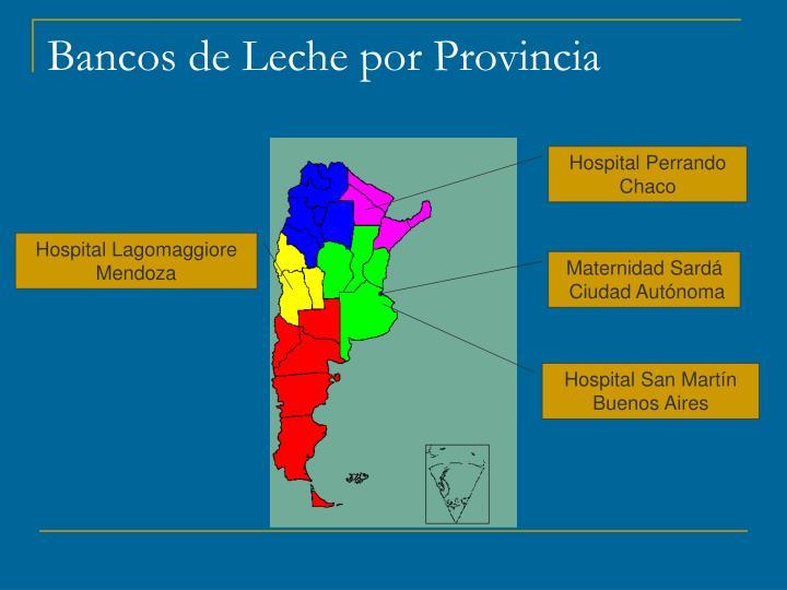 Bancos de Leche por Provincia