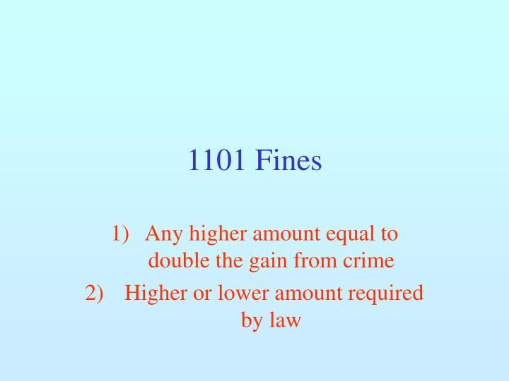 1101 Fines