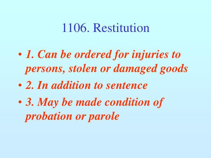 1106. Restitution