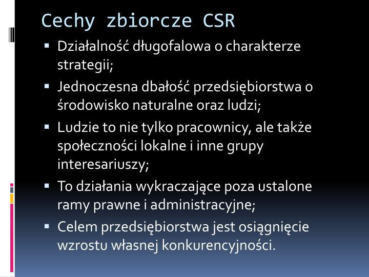 Cechy zbiorcze CSR