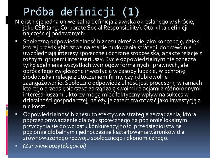 Próba definicji (1)