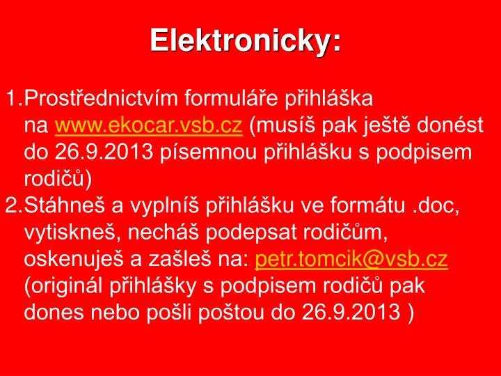 Elektronicky: