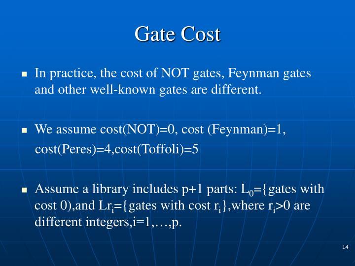 Gate Cost
