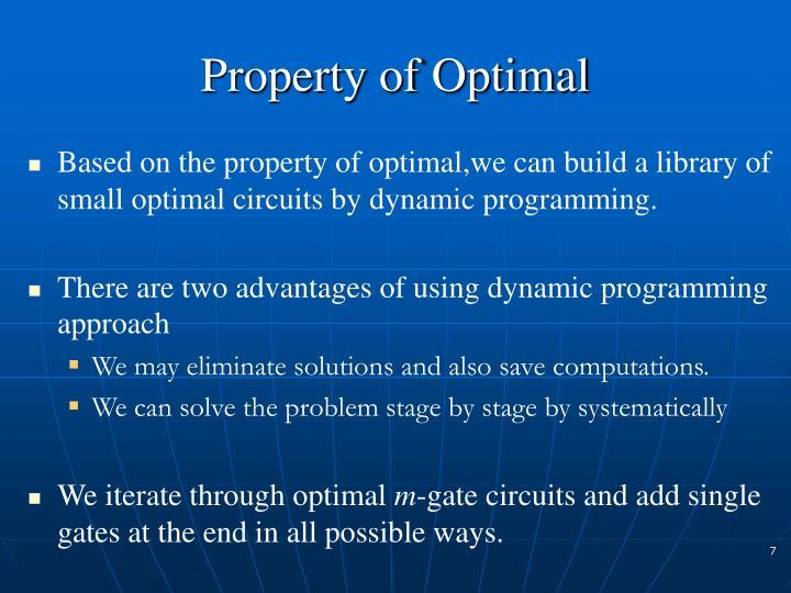 Property of Optimal