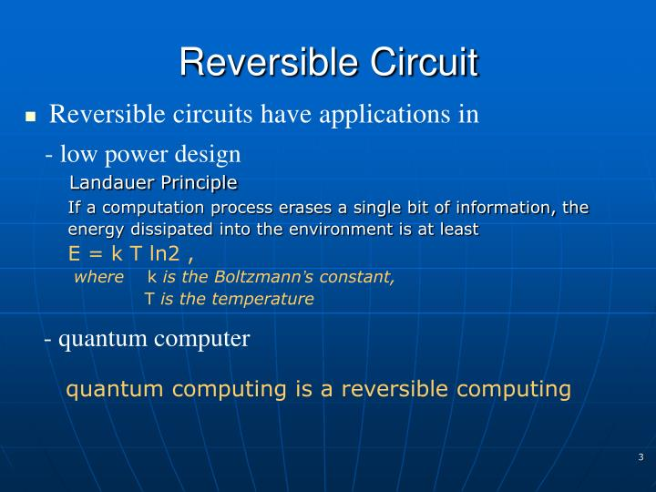 Reversible Circuit