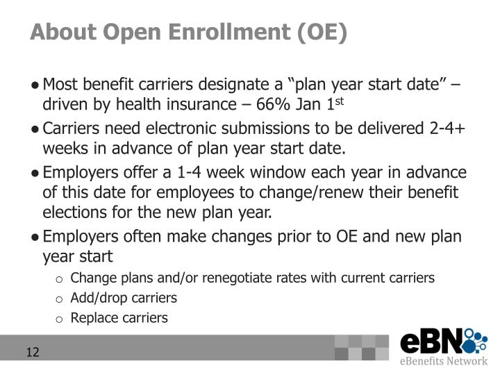 About Open Enrollment (OE)