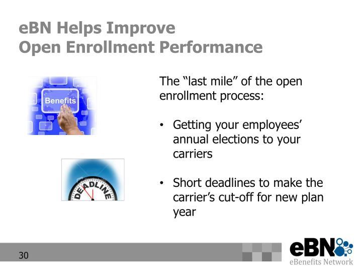 eBN Helps Improve
