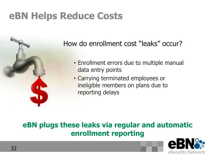 eBN Helps Reduce Costs