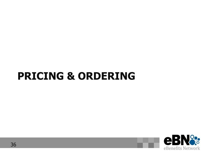 Pricing & Ordering