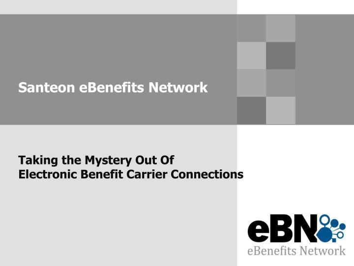 Santeon eBenefits Network