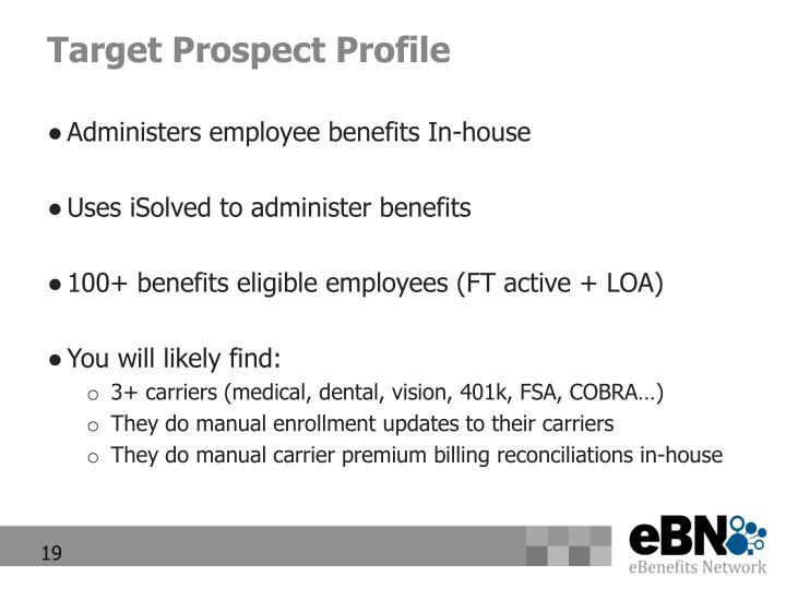 Target Prospect Profile