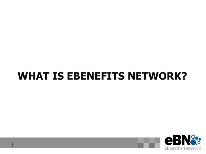 What is ebenefits network